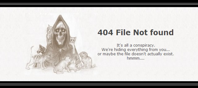 error 404 - Not found